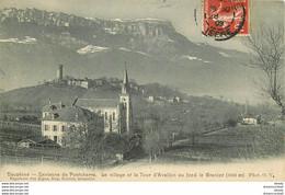 38 PONTCHARRA Environs. Le Village Et La Tour D'Avallon 1909 - Pontcharra