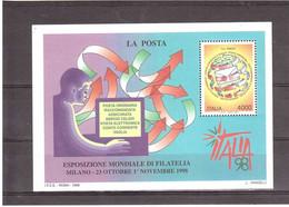 1998 £4000 LA POSTA ESPOSIZIONE MONDIALE FILATELIA ITALIA98 - Blocks & Sheetlets