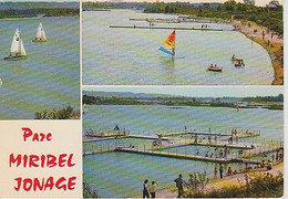 PARC  MIRIBEL   JONAGE  ( 01 )  C P M  3  VUES( 21 / 8 / 315  ) - Other Municipalities