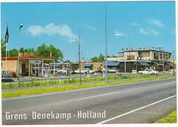 Tensundern Denekamp Grens: FORD P2, CORTINA, OPEL REKORD A, CITROËN DS, MORRIS MINOR - 'GULF' POMP - (Holland/Duitsland) - Toerisme