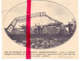 Orig. Knipsel Coupure Tijdschrift Magazine - Soesterberg - Vliegtuig Piloot Wijnmalen Neergestort - 1911 - Ohne Zuordnung