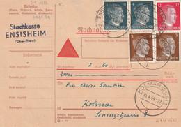 France Alsace Carte Contre Remboursement Ensisheim 1944 - Alsace Lorraine