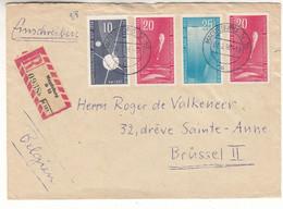 Allemagne - République Démocratique - Lettre Recom De 1958 - Oblit Magdeburg - Ballon - - Briefe U. Dokumente