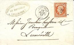1857-lettre De BACCARAT( Meurthe Et Moselle ) ) Cad T15 Affr.  N°16  ( 4 Super Marges ) Oblit. P C 223 - 1849-1876: Klassieke Periode
