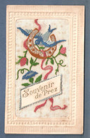 Cpa Fantaisie Brodée Souvenir De Prez Sous Lafauche Oiseau, Fer à Cheval, Embroidered - Other Municipalities