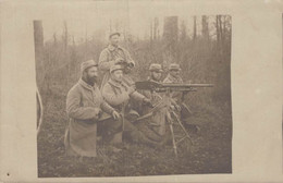 MILITARIA GROUPE DE SOLDATS A LA MITRAILLEUSE - Oorlog 1914-18