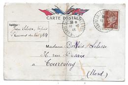 Carte Postale 18-10-1944 - CàD Cros De Cagnes Sur PETAIN No 515 (Utilisation Tardive) - 1941-42 Pétain