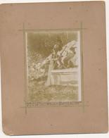 30 /10/1899 GIBELLINA SICILIA FOTOGRAFIA ALLA FONTE DELL'ACQUA BIANCA  CM 8X 11 - Lieux