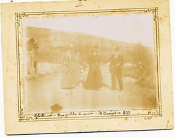30-12-1899 GIBELLINA SICILIA  FOTOGRAFIA UNA PARTITA DI CACCIA  CM 11X8 - Lieux