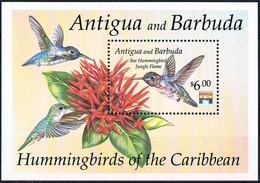 Bloc Sheet OIseaux Colibris Birds Hummingbirds Neuf MNH **  Antigua & Barbuda 1992 - Kolibries