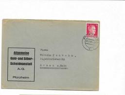 Brief Aus Pforzheim Nach Hanau 1941 - Storia Postale