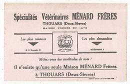 Buvard , 210 X 130 Mm, MENARD FRERES à THOUARS, Deux Sèvres, 2 Scans, Frais Fr 1.95 E - Animals