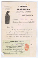 "ROYAUME-UNI - LONDON - EDMONTON - "" PRANA ""  SPARKLETS, Aerators ( 1907 ) - Royaume-Uni"