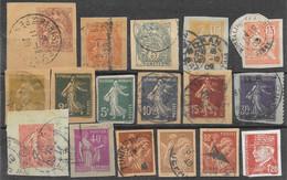 France Entiers Postaux Lot N°3 17 Découpes 1900-44 - Lots Et Collections : Entiers Et PAP