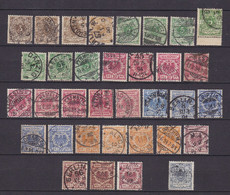 Germany - Reich - 1889 Year _ Michel 45/50 - Colour Varation - Used - Used Stamps