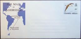 Falkland - Stamped Stationery Aerogramme Bird Map - Möwen