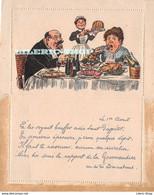 Carte-lettre Double 1er Avril  ± 1900 Illustration Et Propos Médisants Anonymes ( ͡♥͜ʖ ͡♥) ♥ - Altre Illustrazioni