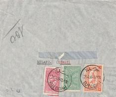 Arabie Saoudite  Affranchissement Composé Sur  Lettre De Jeddah 21/8/1956 Pour Milano Italie - Arabia Saudita