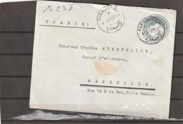 Egypt Alexandria PS COVER TO Marseille France 1904 - 1866-1914 Khedivato Di Egitto