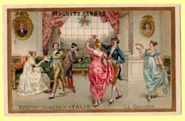 Chromo Biscuits Pernot. La Gavotte, XVIII ème S. En Italie. - Pernot
