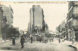 63 - BEAUMONT - PUY DE DOME - AVENUE CHARRAS ET RUE JEANNE D'ARC - ANIMEE - VOIR SCANS - Clermont Ferrand