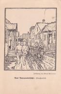 253715Baranowitschi, Zeichnung, Kurt Arendt 1916, Strassenbild. 7-10-17 (FELDPOSTKARTE) - Belarus