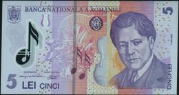 ♛ ROMANIA - 5 Lei 01.07.2005 (2011) {Polymer} UNC P.118 E - Romania