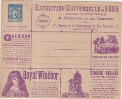 "FRANCE : ENTIER POSTAL . 15 Cts . TYPE SAGE . ENV ANN TSC . "" SERIE 43 "" . 1887 . TB . - Standard- Und TSC-Briefe (vor 1995)"