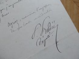 Pierre PRADIE (1816-1892) Député AVEYRON RODEZ Marcillac. 3ème République - AUTOGRAPHE - Autographes