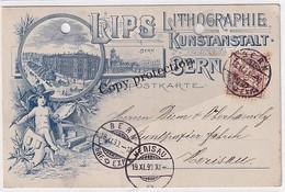 Bern - Lithographie & Kunstanstalt Lips - Vorläuferlitho - 1890 !!!       (P-351-10503) - BE Berne
