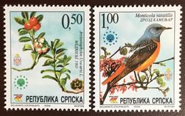 Bosnia Serbian Administration 2004 Nature Preservation Birds Plants MNH - Unclassified