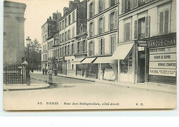 PARIS XVII - Rue Des Batignolles, Côté Droit - VC N°32 - Banque De Change - Distrito: 17