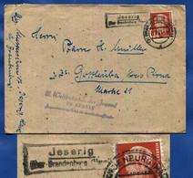 1951  Jeserig  über  Brandenburg    LANDPOST  Brief  11.8.51 Nach Gottleuba   Polit-Stempel  Weltfestspiele Der Jugend - Briefe U. Dokumente