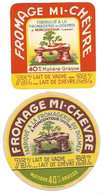 2 Etiquettes FROMAGERIE Du DOLMEN Moncontour MI-CHEVRE 86 - Käse