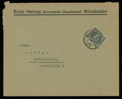 TREASURE HUNT [00350] Germany 1923 Infla Cover Sent From Wiesbaden To Braunschweig Bearing 1000 M Grey Single Franking - Infla