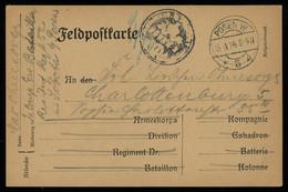 TREASURE HUNT [00375] Germany 1914 WWI Field Post Card Sent From Posen (Poznań) To Berlin, Negative Regimental Seal - Brieven En Documenten