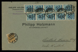 TREASURE HUNT [00391] Germany 1923 Infla Cover From Hanover With 50 Tsd. M And  2 Strips Of 5 Of 30 Tsd. M On 200 M - Infla