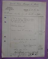 Facture 18.05.1935 Grande Scierie Mecanique De Maiche Doubs 25 - A Prendre En L Etat Perforée - - Transports
