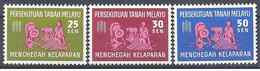 1963 MALAISIE MALAYA 111-13** Campagne Contre La Faim - Federation Of Malaya