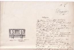 Attiques Du Palais De Vienne Corniche Architecture Plans Frontons Et Balustrades 1867 Duguet Ch.  Format 35x27,5cms - Architecture