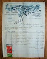 Tournai. Facture . Gaudemont . Fournitures Pour La Construction. Rue Morelle Bvd Des Déportés 1929 - Old Professions