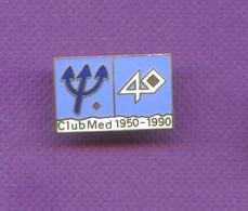 Rare Pins Club Med 1950 - 1990 Trident Egf M594 - Marcas Registradas