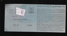 TIMBRE FISCAL   AUTOMOBILE - Revenue Stamps