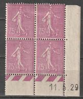 France Coin Daté N° 202 * 11/05/1929 Semeuse Lignée à 15% De La Cote - ....-1929