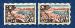 ⭐ France - Variété - YT N° 981 - Couleurs - Pétouille - Neuf Sans Charnière - 1954 ⭐ - Varieties: 1950-59 Mint/hinged