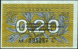 ♛ LITHUANIA - 0,20 Talonas 1991 {Lietuvos Respublika} UNC P.30 - Lithuania