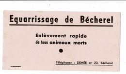 Buvard EQUARISSAGE DE BECHEREL - Animals