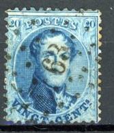 BE   15A   Obl   ---    Dent. 12 1/2 X 13 1/2   --    LP  63  Bruxelles - 1863-1864 Medallions (13/16)