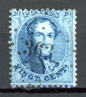BE   15A   Obl   ---    Dent. 12 1/2 X 13 1/2   --    LP  363  Tournai - 1863-1864 Medallions (13/16)