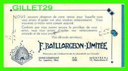BUVARD - PRODUITS DE LA CHANDELLE - F. BAILLARGEON LIMITÉE, SAINT-CONSTANT ET MONTRÉAL, QUÉBEC - - Wash & Clean